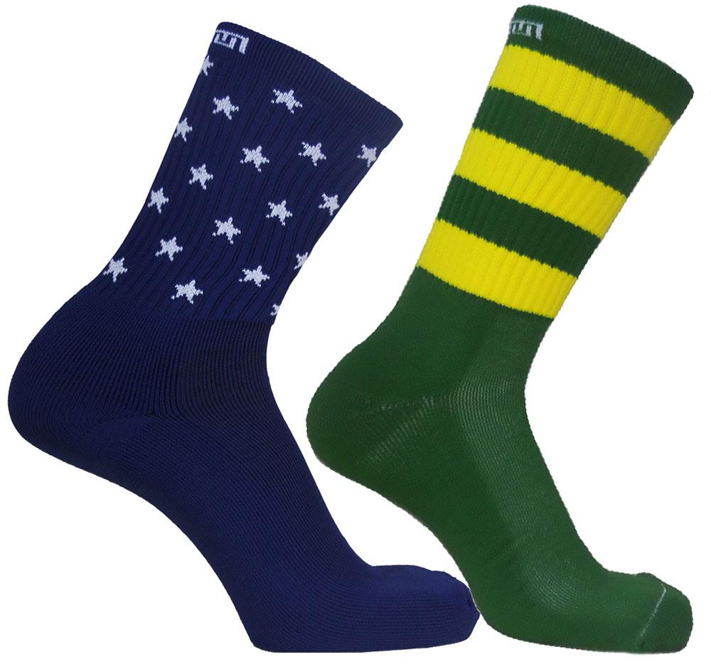 Par de meia Compressão Cano Médio - Brazil Flag