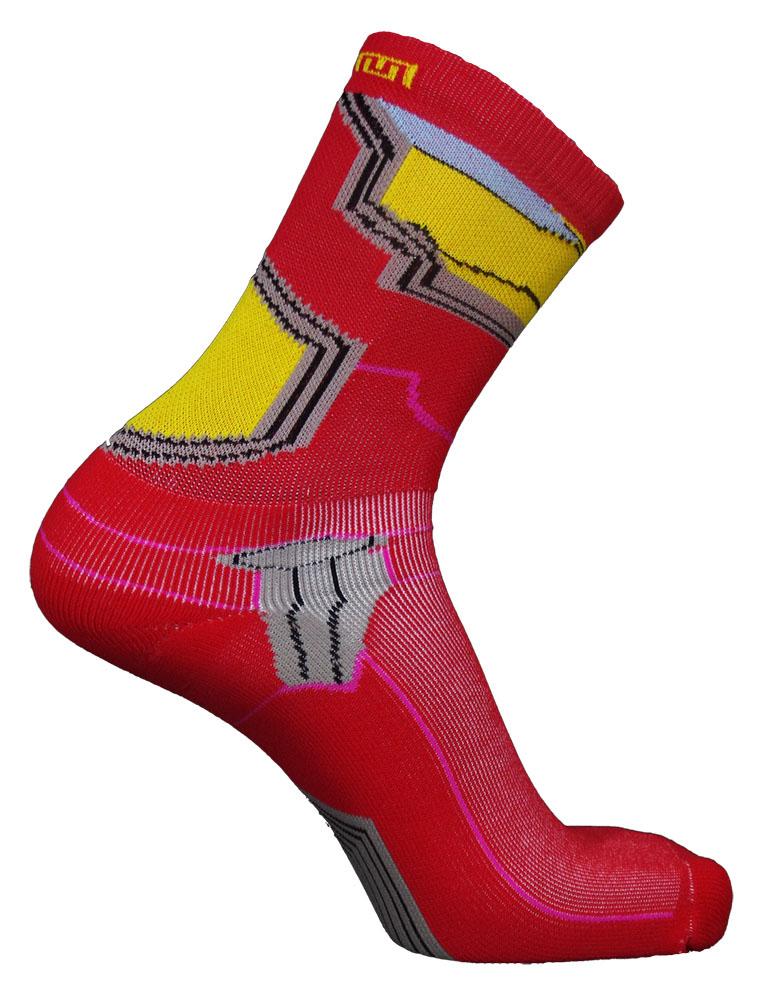 Par de meia Compressão Cano Médio  - Iron Socks vermelha