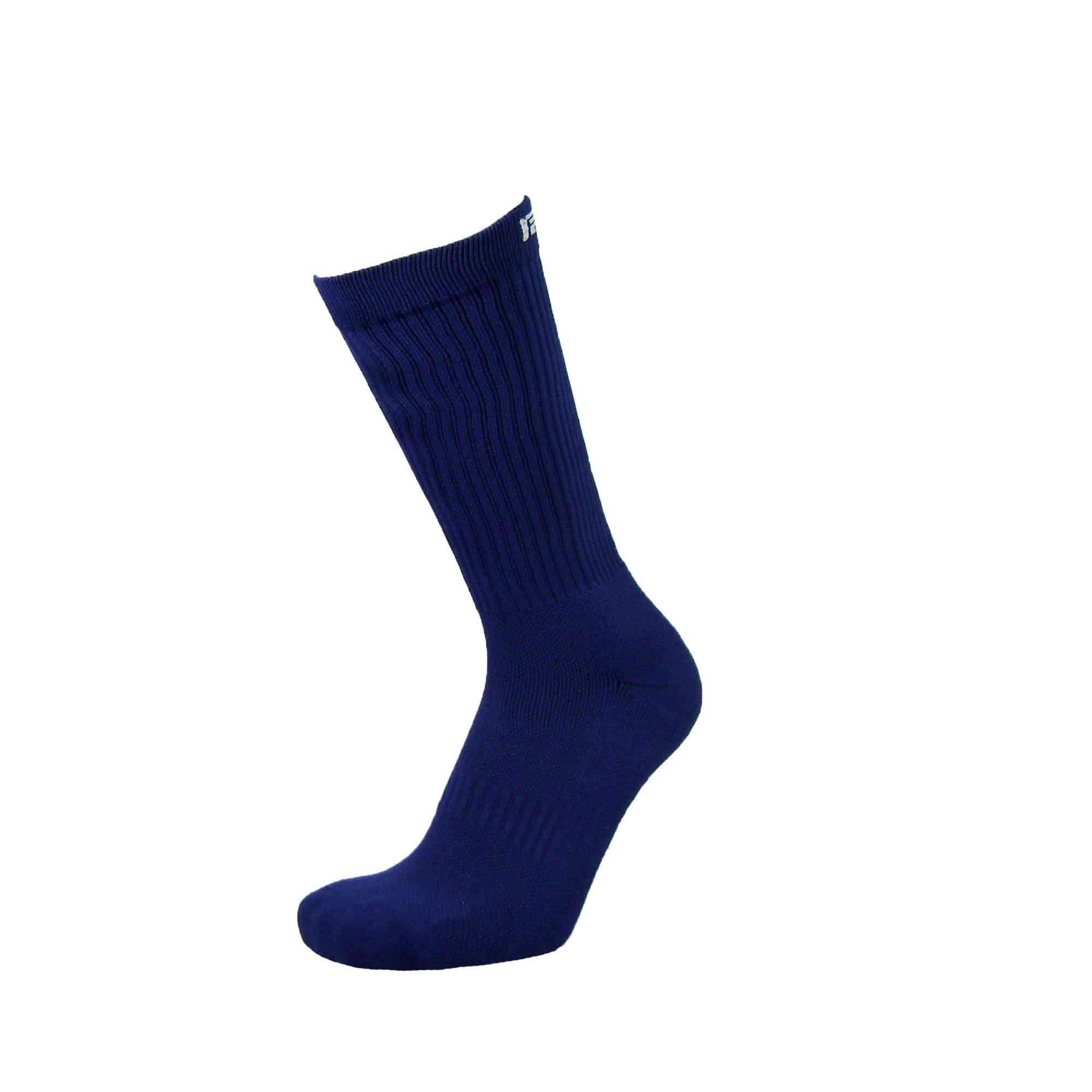 Par de meia Compressão cano médio  - Lisa Azul Marinho