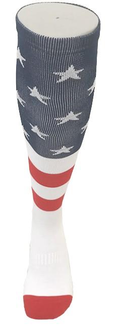 Par de meia de compressão anatômica  - American Flag