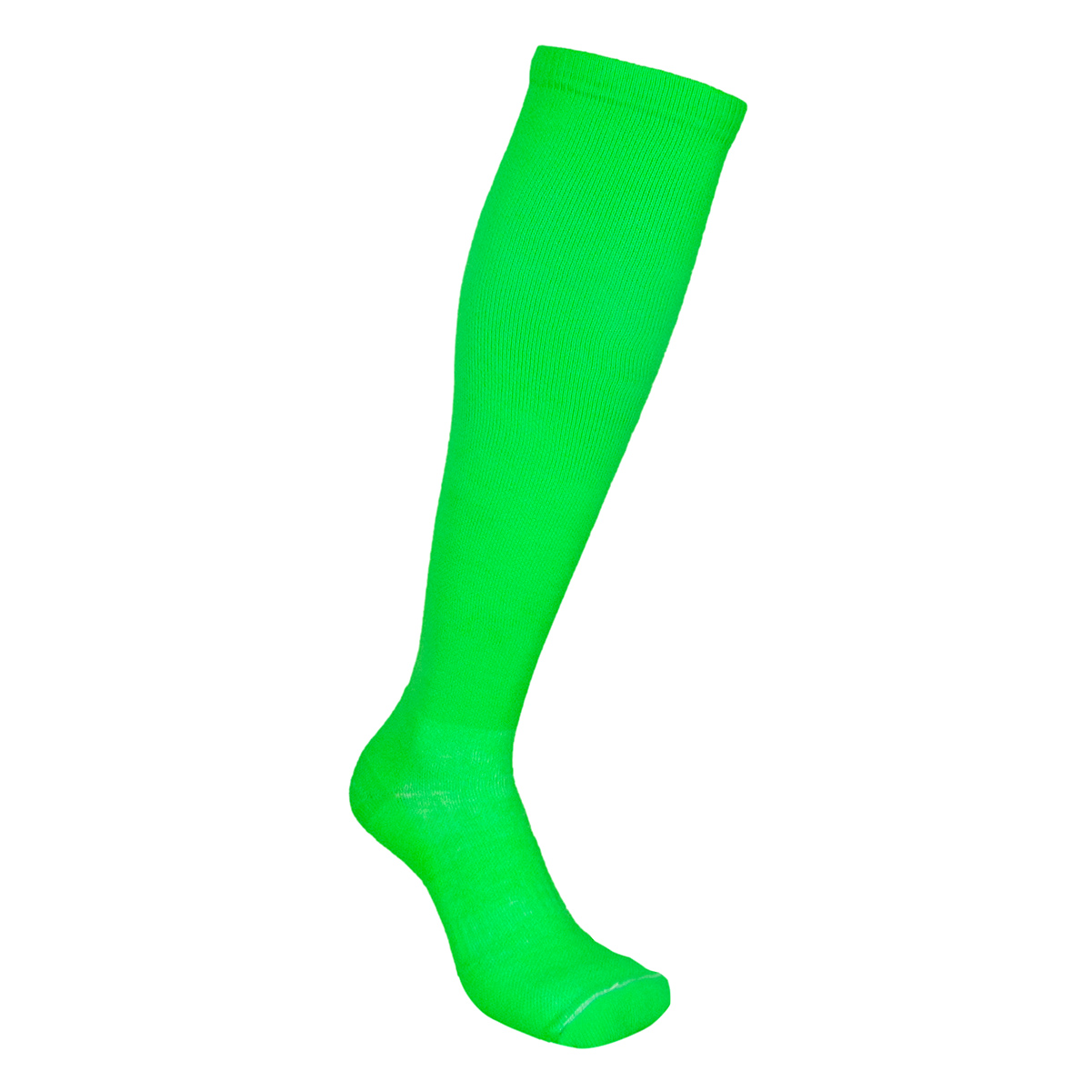 Par de meia de compressão anatômica  - Lisa Verde Neon