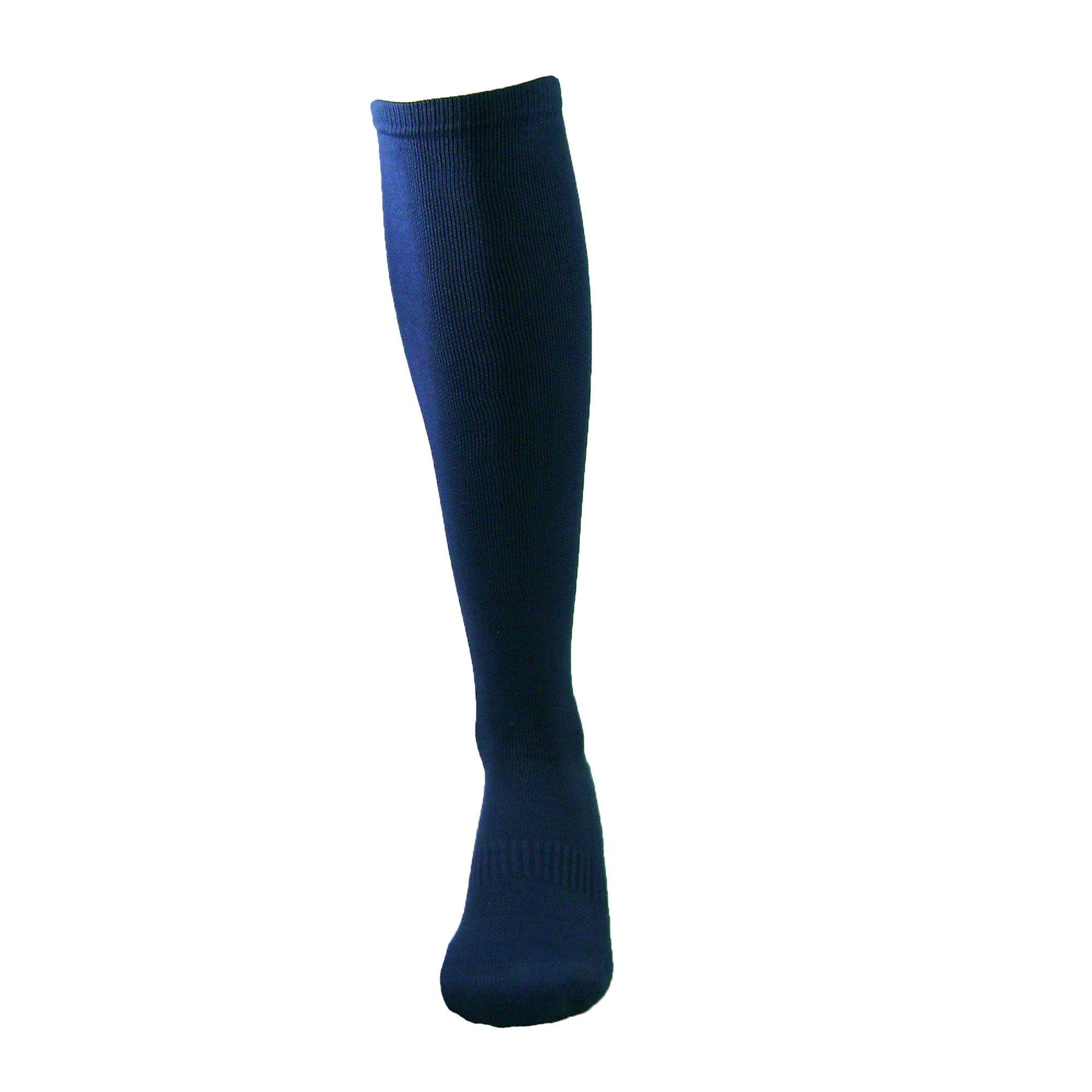 Par de meia de compressão anatômica  - Lisa Azul Marinho