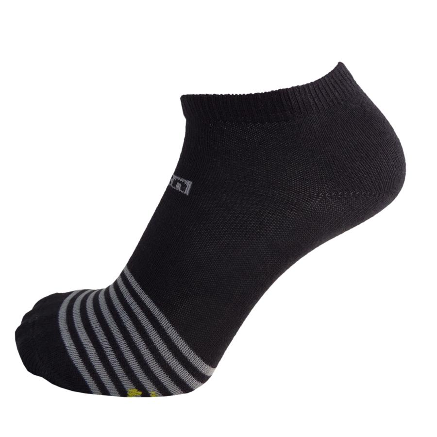 Par de meia sapatilha listras com âncora infantil masculina