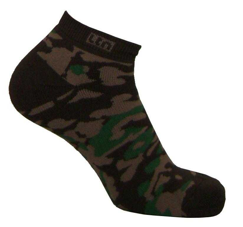 Par de meia sapatilha multicolor camuflado