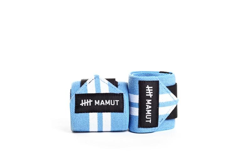 Wrist wraps elásticos - Munhequeira azul e branco