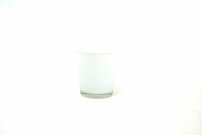 Cachepots vidro - produto importado China - cor Branco medida (AxLxC) 11x12x12