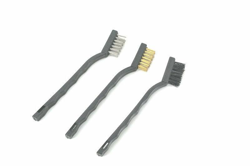 Escova de aço com cabo para limpeza 3 peças