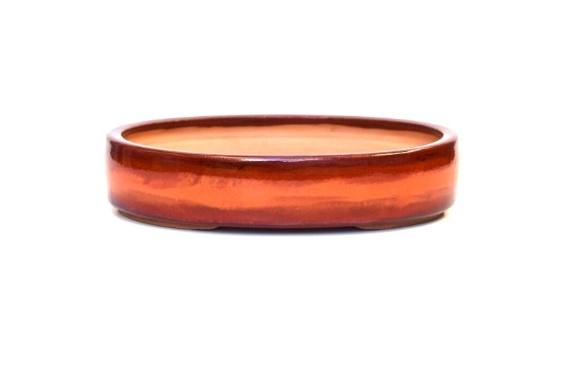 Vaso Oval  - Sergio Onodera – Medidas externas (AxLxC)  5x19,5x25 cm