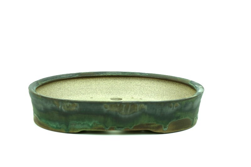 Vaso Oval - Sergio Onodera - medidas externas - (AxLxC) 5x26x20 cm