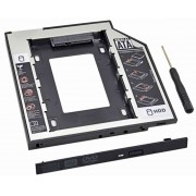 "Adaptador Caddy CDROM Para HD/SSD 2.5"" Sata Slim 9,5mm Knup KP-HD010"