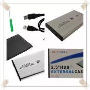 Case Para Hd Notebook Sata 2,5 Usb 2.0 / 3.0 Preto