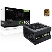 Fonte Corsair 500W CX500 80Plus Bronze/PFC Ativo CP-9020047-WW