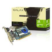 Geforce GT 710 Galax 71GGH4HXJ4FN 1GB 64-bit DDR3 1600MHz/700MHz 192 Cudas - HDMI/DVI/VGA