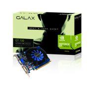 Placa de vídeo NVidia Geforce GT 730 2GB 128-Bit 1330MHz GDDR3 Galax 73GPF8HX3SNS - 96CUDAs