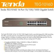 SWITCH TENDA TEG1016D GIGABIT 16 PORTAS 10/100/1000