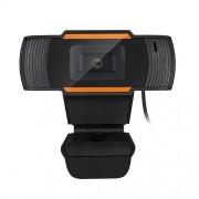 Webcam BrazilPC V5 HD 720p Com Microfone Integrado - Preta/Laranja