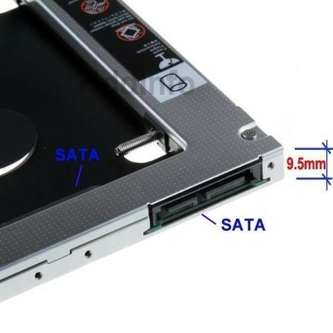 """Adaptador Caddy CDROM Para HD/SSD 2.5"""" Sata Slim 9,5mm Knup KP-HD010  - Mega Computadores"""
