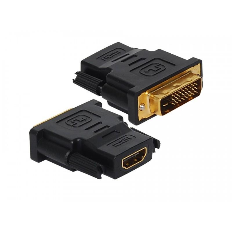 Adaptador DVI-D Macho para HDMI Fêmea HardLine HL-HDMI/DVI  - Mega Computadores