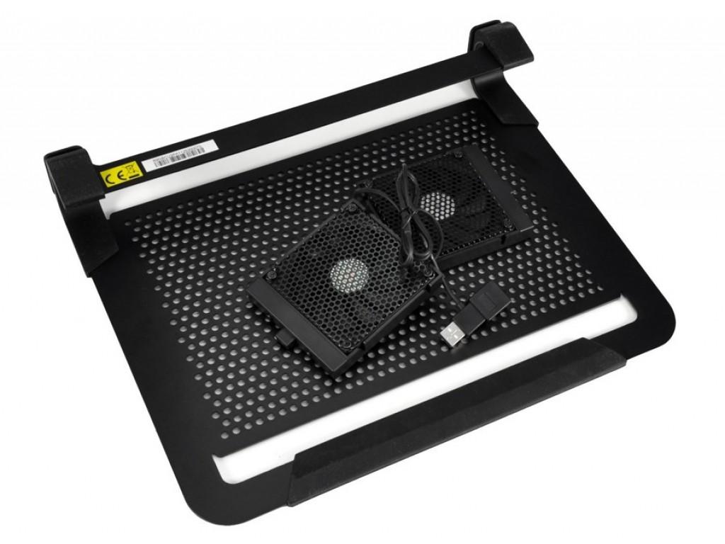 """Base Refrigerada Para Notebook até 17"""" Cooler Master Notepal U2 - U2 PLUS R9-NBC-U2PK - 2 Fans 80mm ajustáveis  - Mega Computadores"""