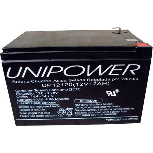 Bateria para Nobreak 12V/7A Selada Unipower  - Mega Computadores