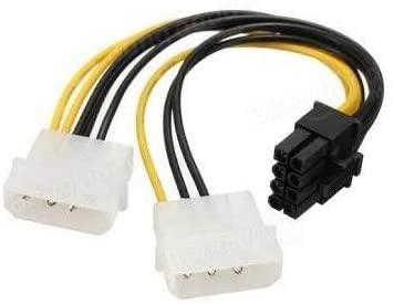 Cabo Y Adaptador PCI-Express 6/8 Pinos Para Ligar Placa de Vídeo Na Fonte  - Mega Computadores