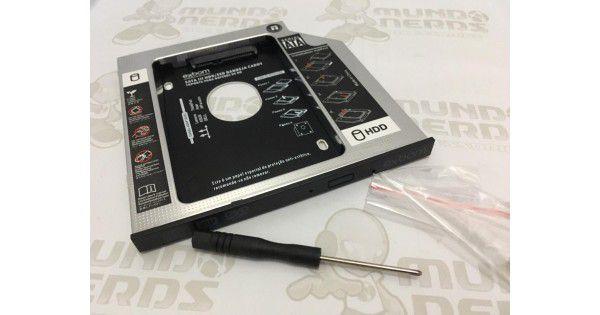 "Caddy P/HD, SSD 2.5"" SATA SLIM 12,7mm - e 9,5mm Exbom  - Mega Computadores"