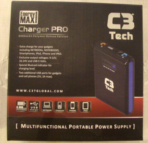 Carregador Portatil Energy Max Portatil 8000mah Biv C3  - Mega Computadores