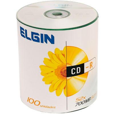 CD-R Gravável Elgin 700MB/80min Pino Com 100 Unidades  - Mega Computadores