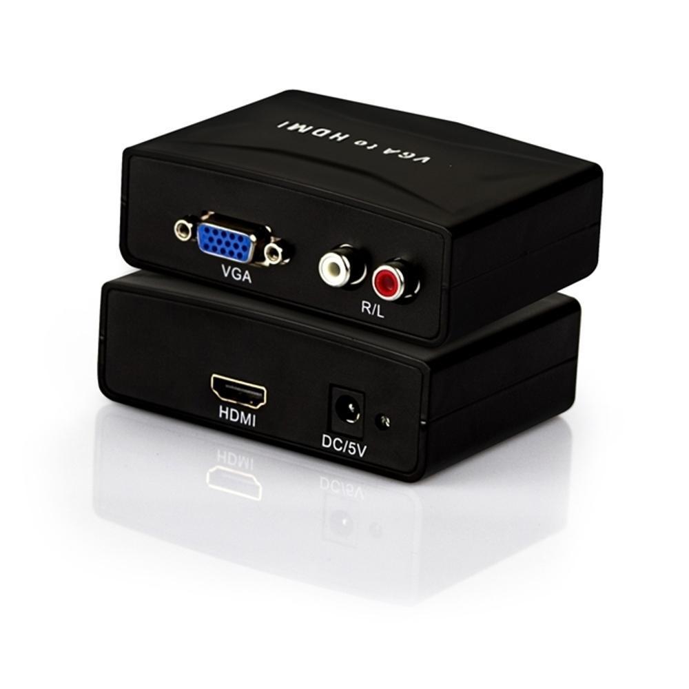 Conversor/Adaptador VGA+Audio para HDMI Fêmea  - Mega Computadores