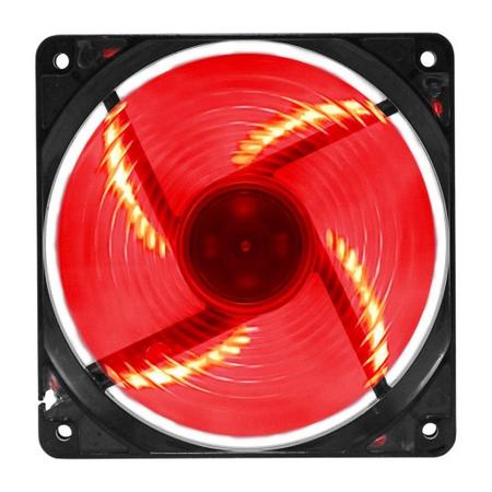 Cooler Fan G-Fire EW2252EGEX 12x12cm Led Vermelho  - Mega Computadores
