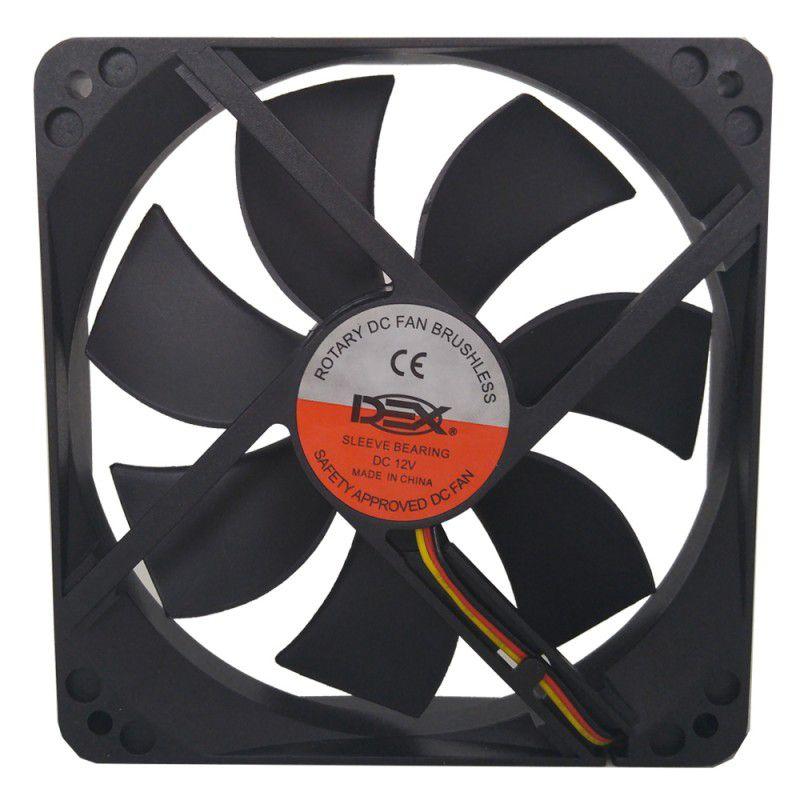 Cooler Fan Para Gabinete 120x120x25mm Dex DX-12C Preto  - Mega Computadores