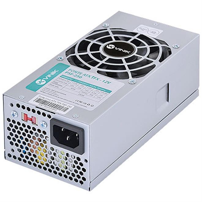 Fonte TFX 250W Vinik - Mod. PSF-250  - Mega Computadores