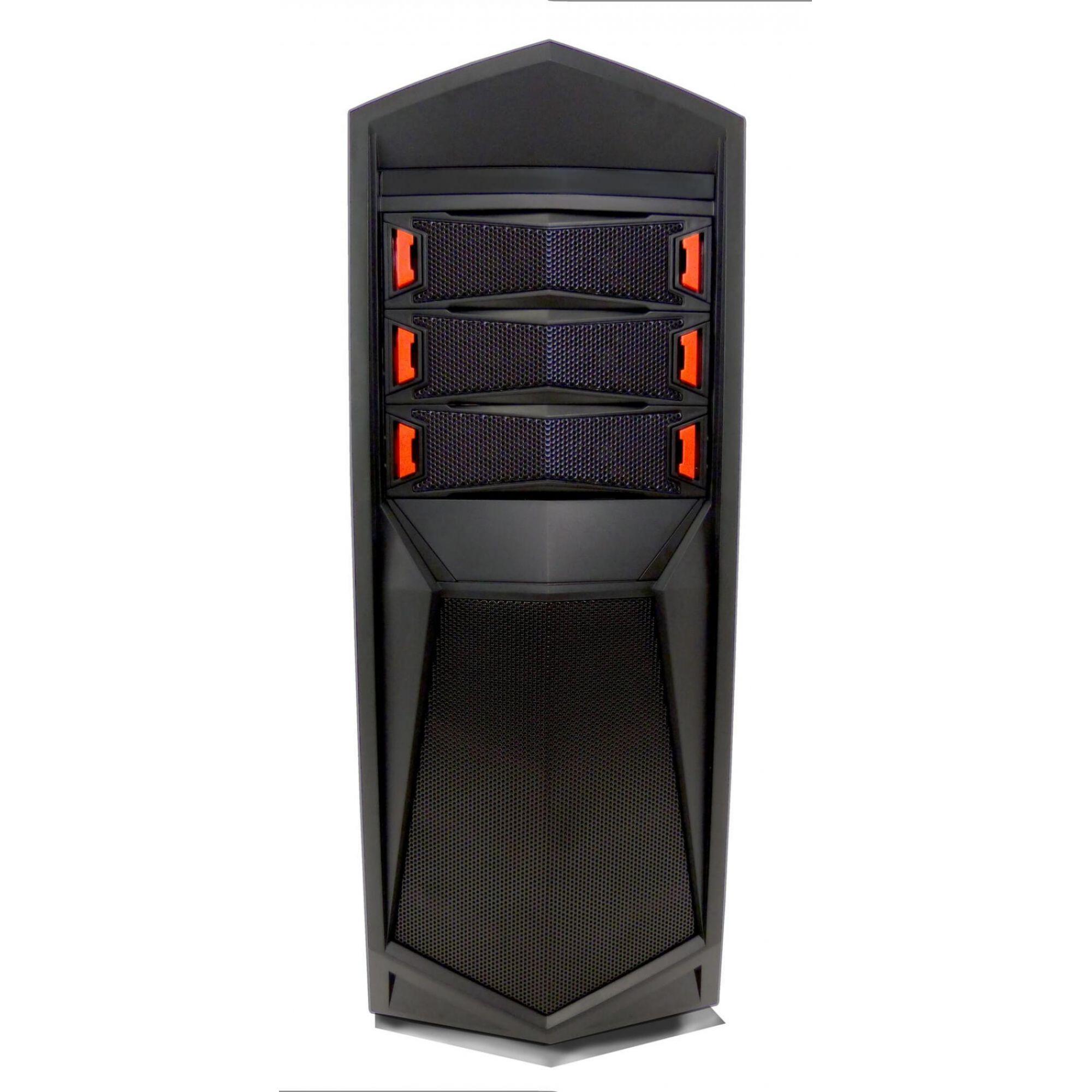 Gabinete G-Fire  HTT018B06S Gamer Preto/Vermelho 3 baias/1x USB 3.0 2x USB 2.0  - Mega Computadores