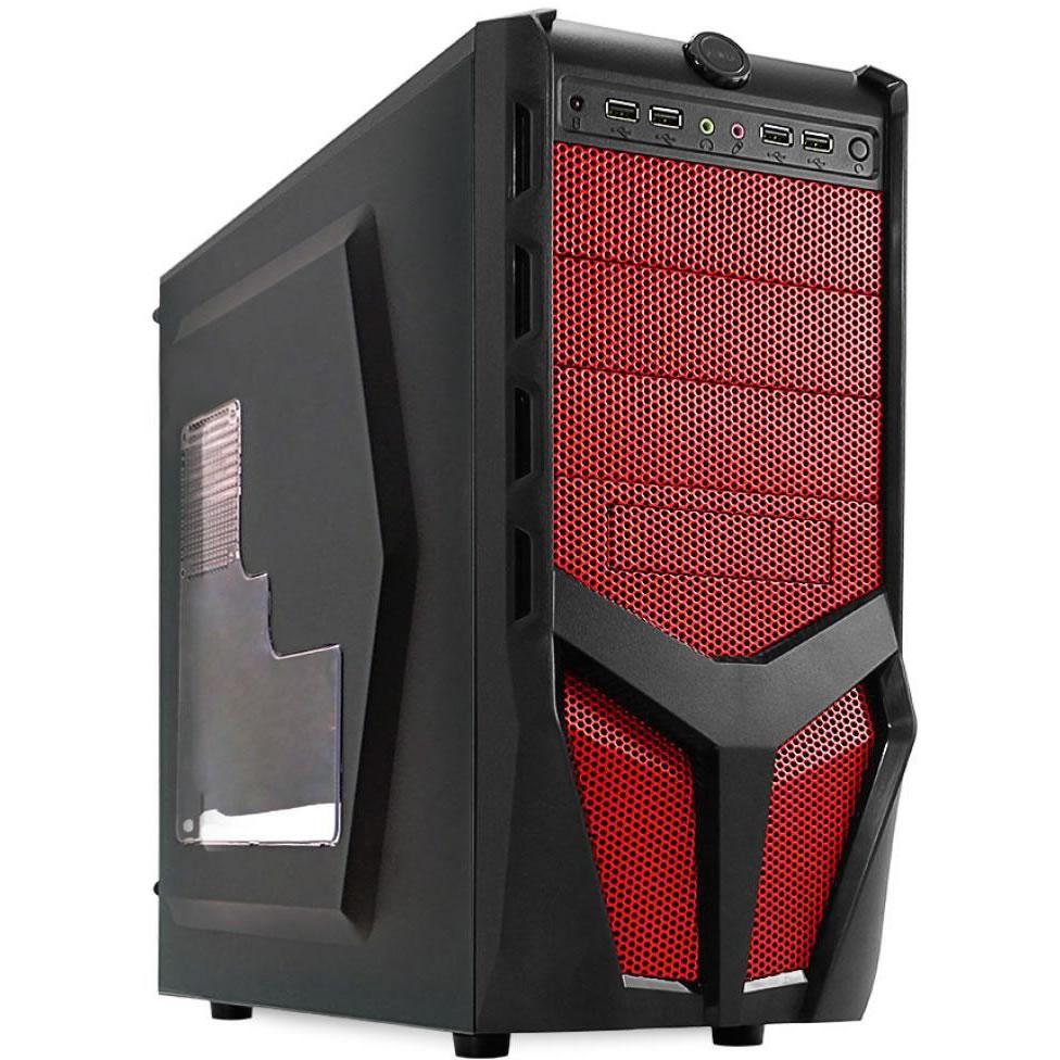 Gabinete G-Fire HTX010E06S Gamer Vermelho Sem Fonte  - Mega Computadores