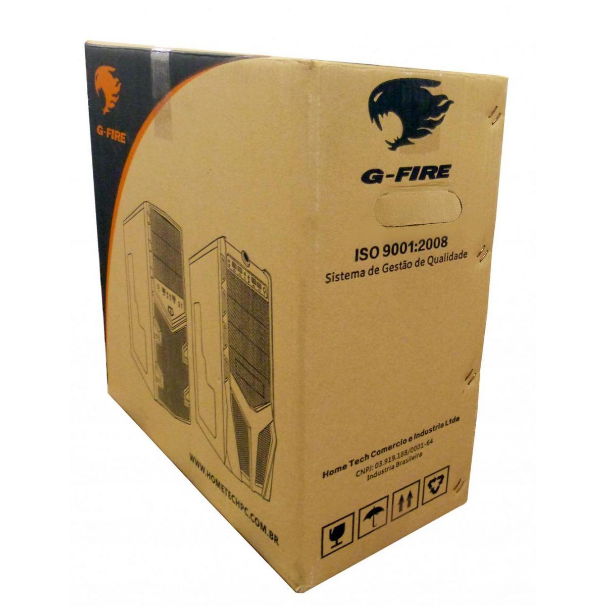 Gabinete G-Fire HTX010L06S Gamer Azul/Preto Sem Fonte  - Mega Computadores
