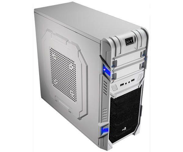 Gabinete Gamer Aerocool GT 2 Baias 2xUSB 2.0 S/Fonte Branco EN52223  - Mega Computadores