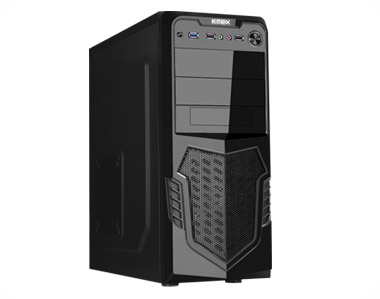 Gabinete Gamer K-Mex CG-A2A3 Tool Less Preto - Sem Fonte  - Mega Computadores