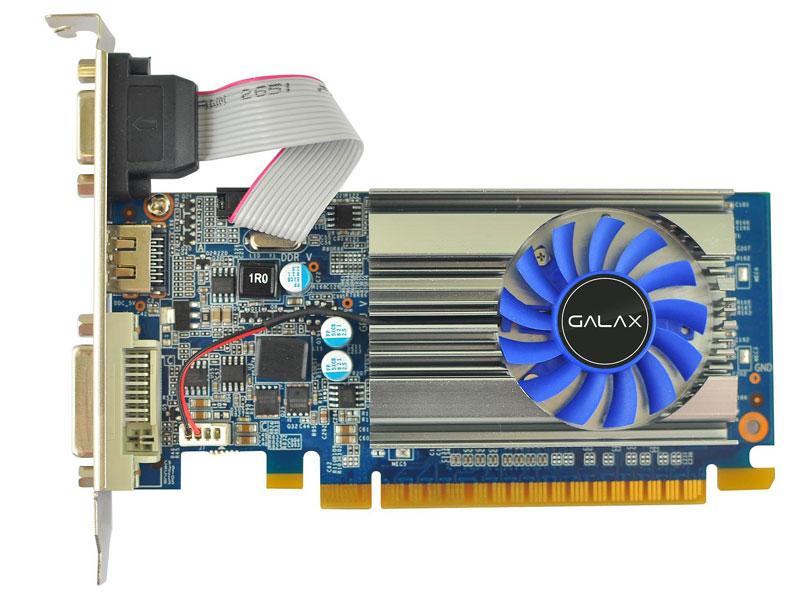 Geforce GT 710 Galax 71GGH4HXJ4FN 1GB 64-bit DDR3 1600MHz/700MHz 192 Cudas - HDMI/DVI/VGA  - Mega Computadores