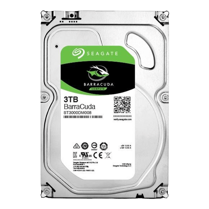 HD 3TB Seagate ST3000DM008 Sata3 6.0Gb/s 64MB Buffer - 2DM166-302  - Mega Computadores