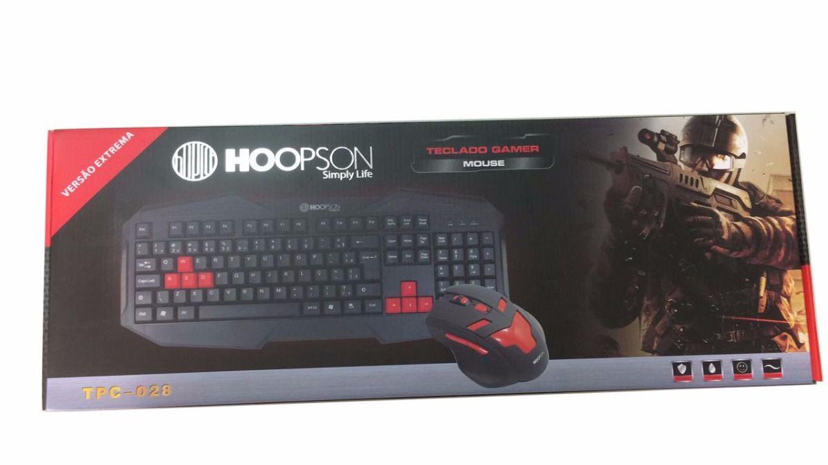 Kit Teclado E Mouse Gamer Usb Hoopson Tpc-028  - Mega Computadores