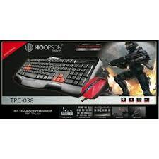 Kit Teclado e Mouse Gamer usb Hoopson Tpc-038  - Mega Computadores