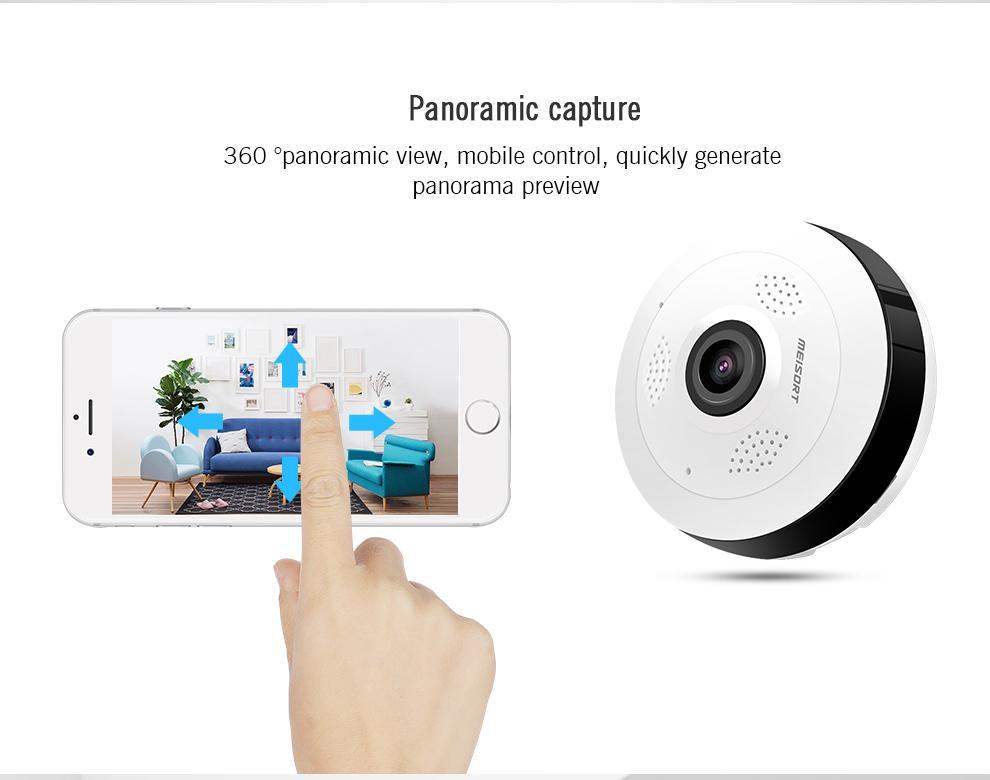 Lâmpada Espiã Câmera Ip Led Wifi 360º V380  - Mega Computadores