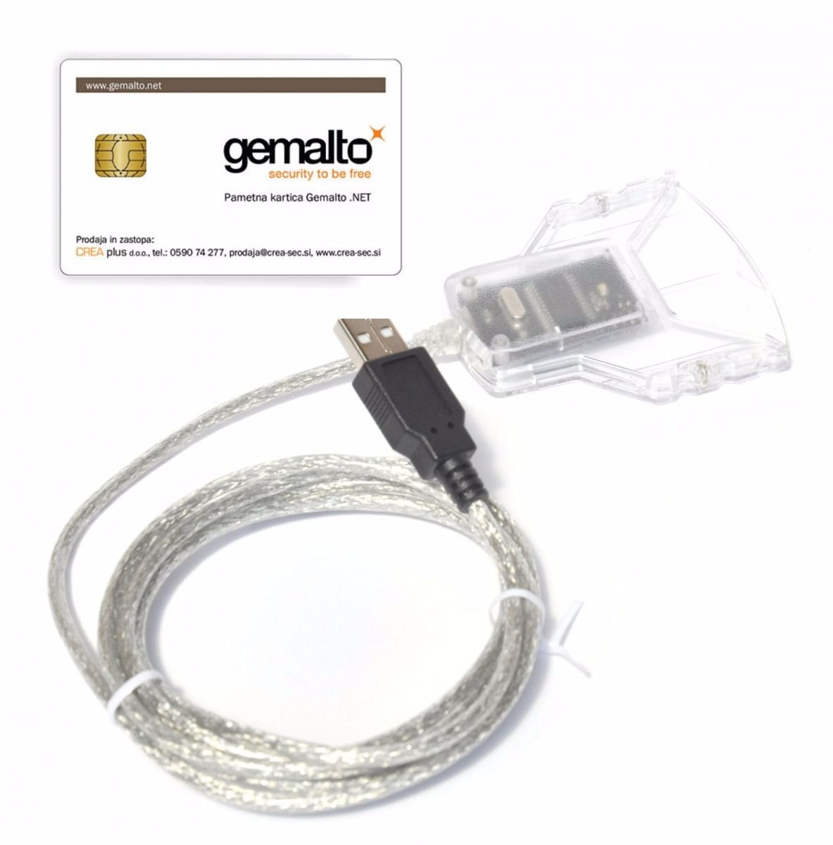 Leitor de Smart Card para certificado digital Gemalto PC USB-TR  CT30   - Mega Computadores