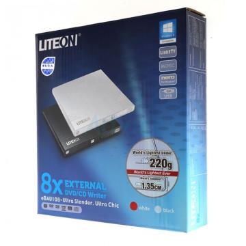 Lite-On Gravador De Dvd Externo 8x Slim Writer Ebau108-01 Preto Lite-On   - Mega Computadores