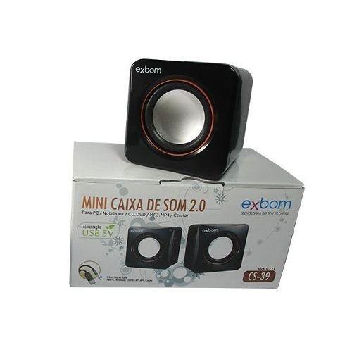 Mini Caixa De Som 2.0 Usb Cs-39 Exbom  - Mega Computadores