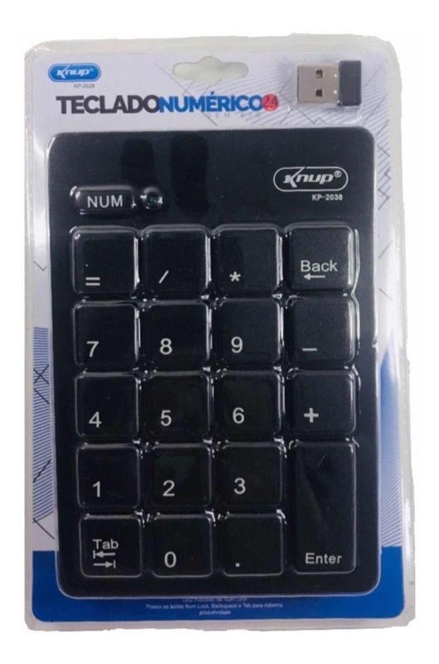 MINI TECLADO NUMÉRICO KP-2038  - Mega Computadores