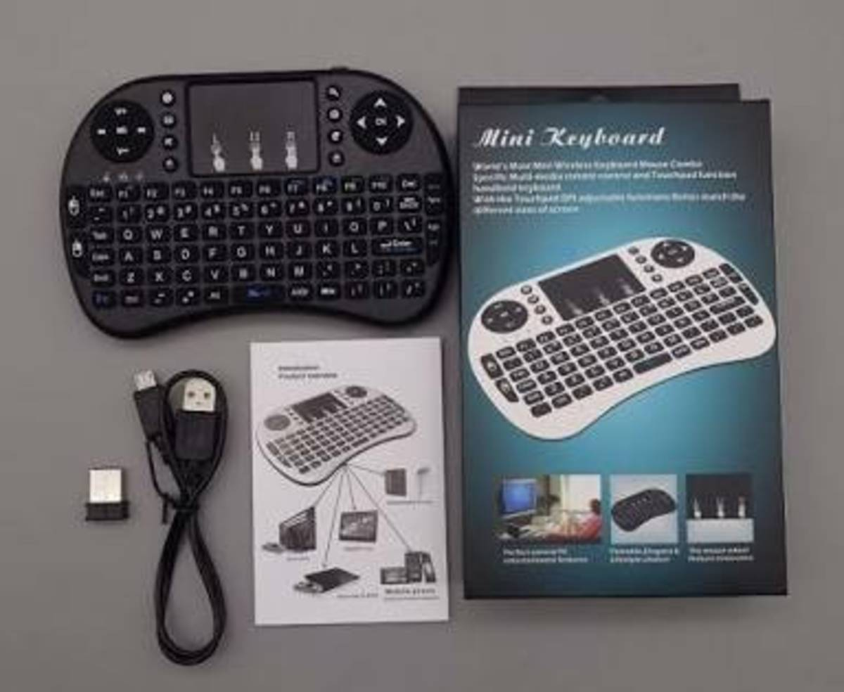 Mini Teclado Wireless Tv Box Pc Android Tv Smart  - Mega Computadores