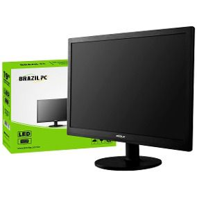 Monitor Led 19 Brazil PC 19BP19WE02 Preto Widesscreen - Mega Computadores