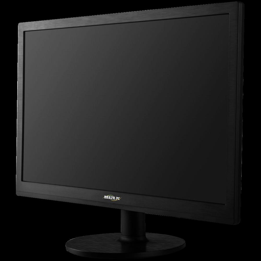 Monitor Led 19 Brazil PC 19BP19WE02 Preto Widesscreen  - Mega Computadores