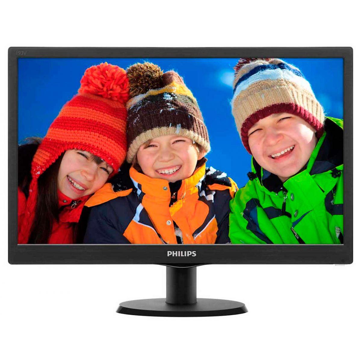 "Monitor Philips 18,5"" HDMI 193V5LHSB2 1366x768@60Hz  - Mega Computadores"